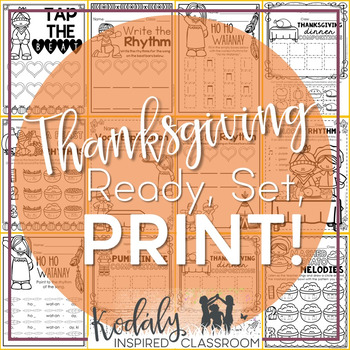 Thanksgiving Music Worksheets {Ready Set Print}