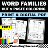 Word Families Worksheets Part I for Phonics Word Work Acti