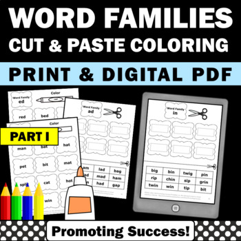 Word Families Worksheets 1st Grade Phonics Special Educati