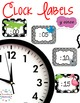 etiquetas De Reloj - Spanish Clock Labels for Telling Time