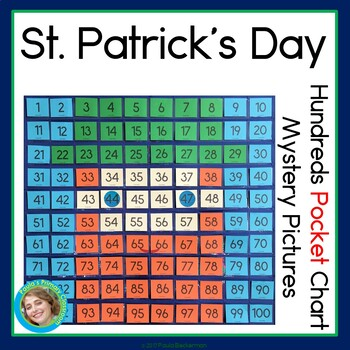 St. Patrick's Day Hundreds Pocket Charts Mystery Pictures
