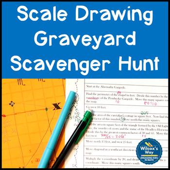 Graveyard Scale Drawing Scavenger Hunt