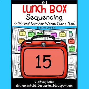 Lunch Box Sequencing 0-20 and Number Words (zero-ten)