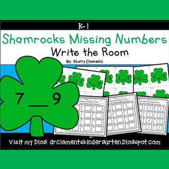 Shamrocks Write the Room (Missing Numbers 0-10)