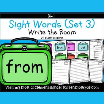 Write the Room (Sight Words) (Set 3)