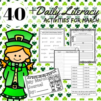 Daily 5 Literacy Activities March 2nd Grade Reading, Writi