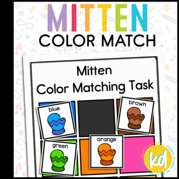 Colorful Mitten Matching Folder Game for Early Childhood S