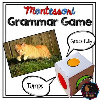 Montessori grammar game - parts of speech