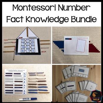 Montessori number fact knowledge bundle