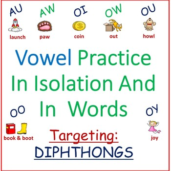 DIPHTHONG VOWELS IN ISOLATION & WORDS /AU/, /AW/, /OI/, /O
