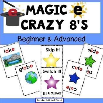 Magic E CVCe Games -Crazy 8's