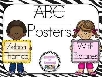 Zebra Themed ABC Posters