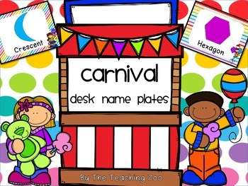 Carnival Theme Shape Identification Posters