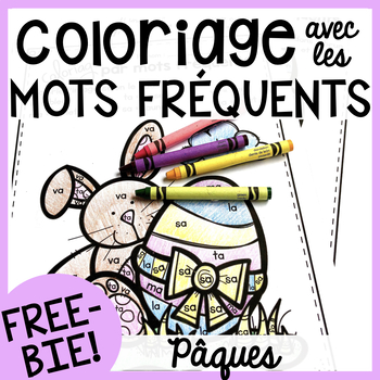 500 FOLLOWERS FREEBIE - Free FRENCH Easter colour by sight