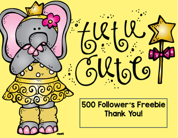 500 Follower's Freebies