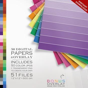 Digital Paper - Ombre  + DIY Overlay