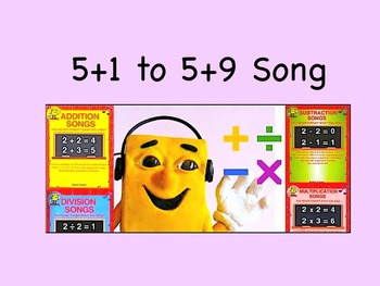 """5+1 to 5+9 mp4 Song Video from """"Addition Songs"""" by Kathy T"""