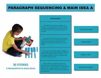 Paragraph Sequencing & Main Idea A Manipulatives