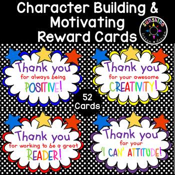52 Classroom Community and Attitude Reward Cards! Classroo