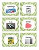 52 Green Chevron Supplies Labels