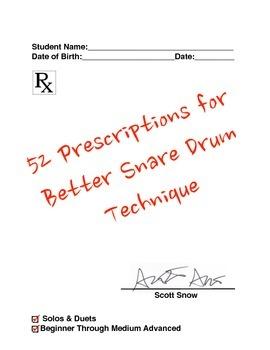 52 Prescriptions for Better Snare Drum Technique