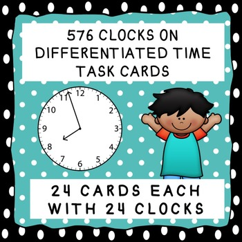 526 Clocks on Differentiated Time Task Cards
