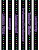 54 Neon Theme Binder Covers or Dividers & Spine Labels - B