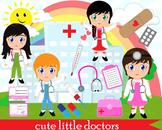 54 PNG -Girls doctors clip art- Digital Clip Art- 300 dpi 058
