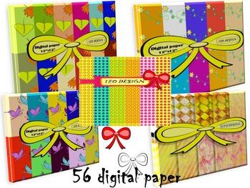 Digital Paper - Bundle - Clip Art - Personal or Commercial Use