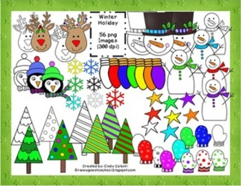 56 Winter Holiday Clip Art Images