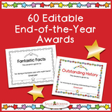 End of Year Awards - Editable - Color and Black/White