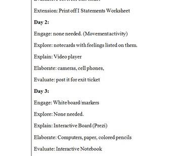 5E Lesson Plan for Communication