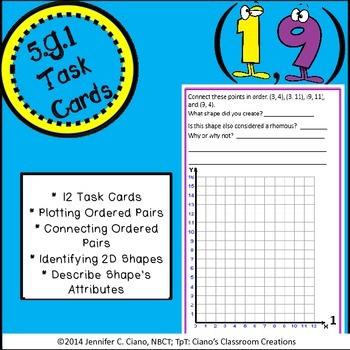 Coordinate Grid Task Cards (5.G.1)
