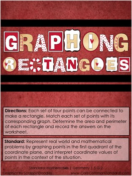 5.G.2 Fifth Grade Common Core Worksheets, Activity, and Poster