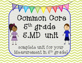 5.MD CCSS centers for measurement -5th Grade Bundle Pack