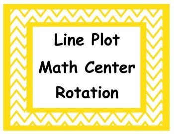 5.MD.2 Common Core Aligned Line Plot Centers