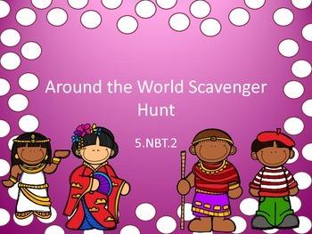 5.NBT.2 Scavenger Hunt