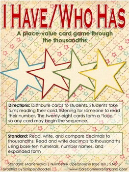 5.NBT.3 Fifth Grade Common Core Worksheets, Activity, and Poster