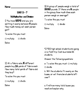5.NBT.5, 6 & 7 Multiplication/Division WS (with word probl