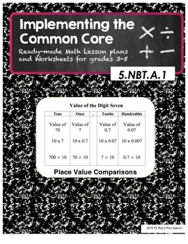 5.NBT.A.1 Place Value Comparisons