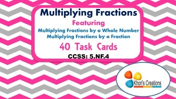 5.NF.4 Multiplying Fractions Task Cards
