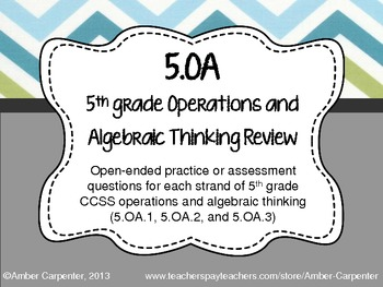 5.OA Task Cards (Order of Operations, Expressions, and Coo