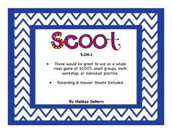 5.OA.1 Common Core Math SCOOT/Task Cards