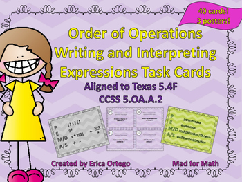 Order of Operations Writing & Interpreting Expressions Tas