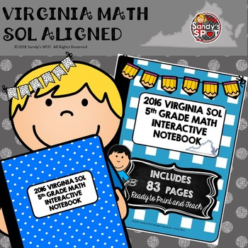 5TH Grade Math Virginia SOL Interactive Notebook