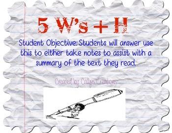 5W + H Summarizing