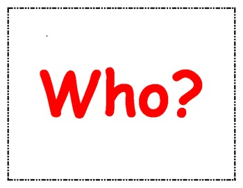 5W's - Question Posters (Who, What, When, Where, Why, How)