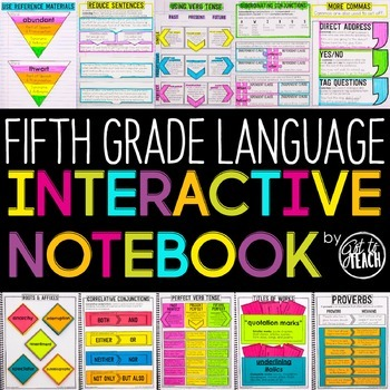5th Grade Language Interactive  Notebook  Grammar Interact