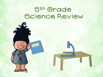 5rd Grade Science Test Prep Review PowerPoint game