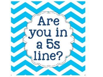 5s Line Up Poster Set